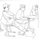 Zeichnung: Abiturienten in Hamburg Horn, Februar 2014