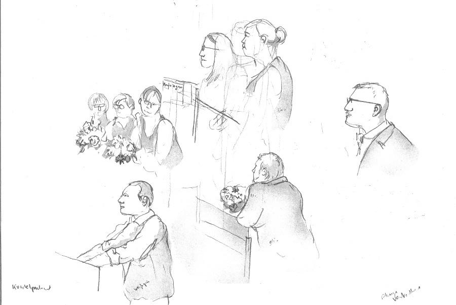 Letzte Sitzung der 19. Wahlperiode, Bezirksversammlung Eimsbüttel, Zeichnung: Christine Klein, www.stratford2000.de