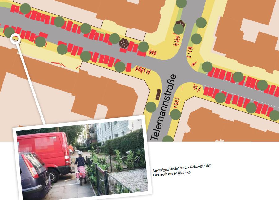 Karte: Wie breit sind die Gehwege in der Lutterothstraße?